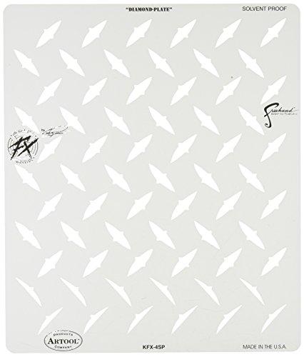 Stencil aerografo Artool Kustom Fx 'Diamond Plate' by C. Fraser