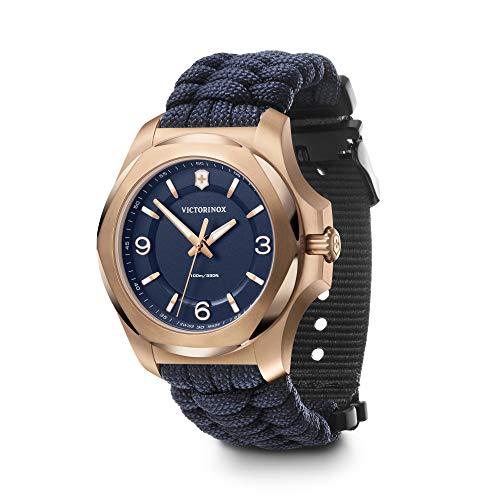 Victorinox I.N.O.X. V 241955 - Reloj de pulsera para mujer con esfera azul y correa de paracaídas azul