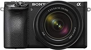 Sony A6500 Mirrorless Camera with 18-135mm Lens, Black