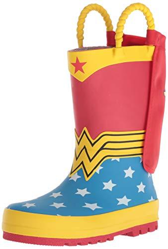 Western Chief Girls Kids Wonder Woman Rain Boot, Red, 5 Toddler