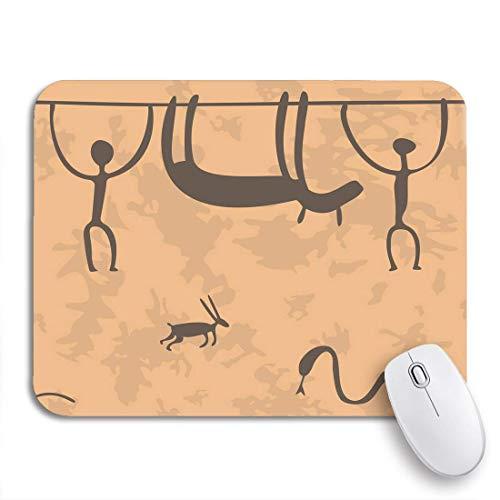 Alfombrilla de ratón para juegos edad pintura rupestre antr