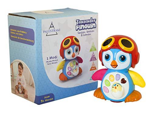 PALESTRAKI Spielzeug zum Krabbeln lernen Baby ab 9 Monate - Motorik und Lernspielzeug - Pinguin mit Bewegung & Musik