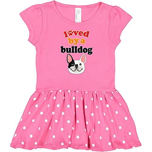 inktastic French Bulldog Infant Dress 12 Months Raspberry with Polka Dots 38fa8