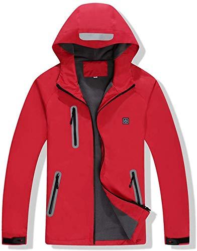 CHNDR elektrisch vest/jas, elektrische warme kleding met USB-kabel voor outdoor ski camping (unisex), geel - M
