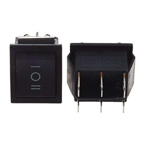 NEYOANN 2 interruptores basculantes DPDT ON-Off-ON de 3 posiciones a presión de 15 A/250 V 20 A/125 V CA