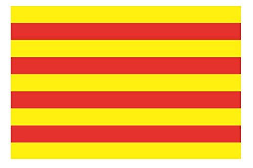 U24 Fahne Flagge Katalonien Bootsflagge Premiumqualität 20 x 30 cm