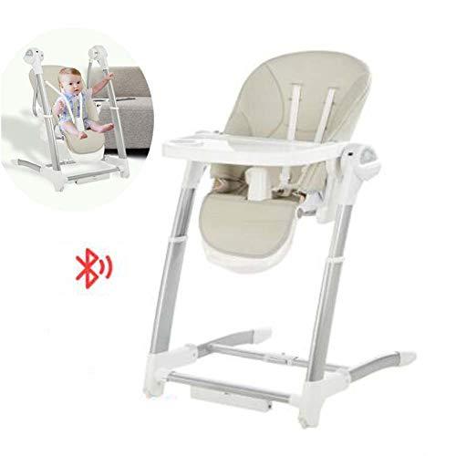 FCDWHJ Baby elektrischer Schaukelstuhl, Babyschaukel, Wippe, Schaukelwippe, Wiege, Spielbogen, Liegeposition, Klappbar, Bügel mit, Moskitonetz,für zuhause und unterwegs