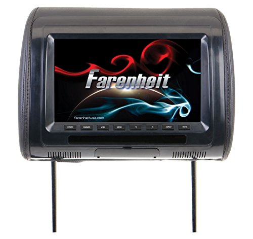 "Farenheit HR-91CC Universal Replacement Headrest Preloaded w/ 9"" LCD"