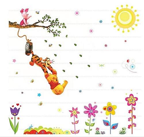 Winnie l'ourson Stickers muraux Garderie Des gamins Chambre Autocollant mural amovible Mural Decal Décor Décoration de bébé