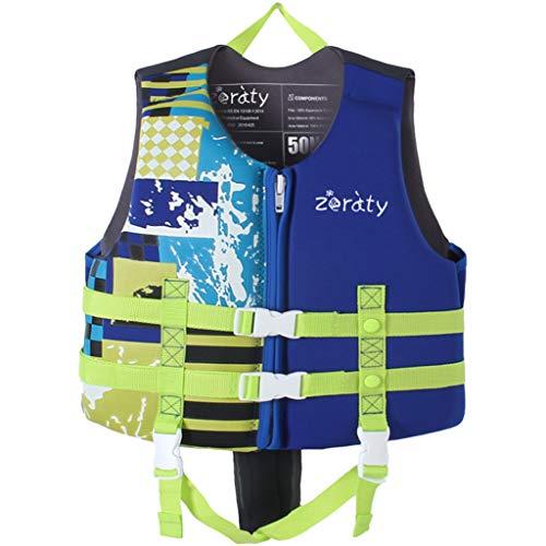 Zeraty Kinder Schwimmweste Schwimmen Jacke für Kleinkinder mit Einstellbare Sicherheits Straps Alter 1-9 Jahre /22-50 lbs/Blau