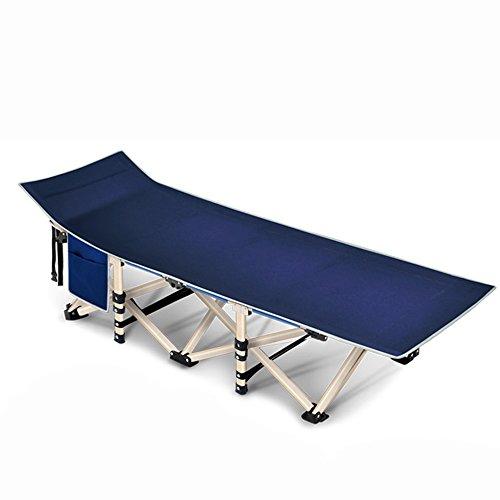 KFXL yizi Lit se pliant simple de bureau de Siesta/fauteuil inclinable portatif économiseur d'espace de soin extérieur portatif/chaise longue de salon de ménage de renfort (Couleur : F)