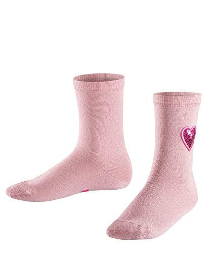 FALKE Kinder Socken Sequins, Baumwollmischung, 1 Paar, Rosa (Candy Floss 8661), Größe: 27-30