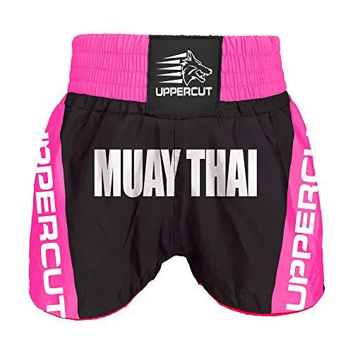 Calção Short Muay Thai Premium Preto/Rosa - M
