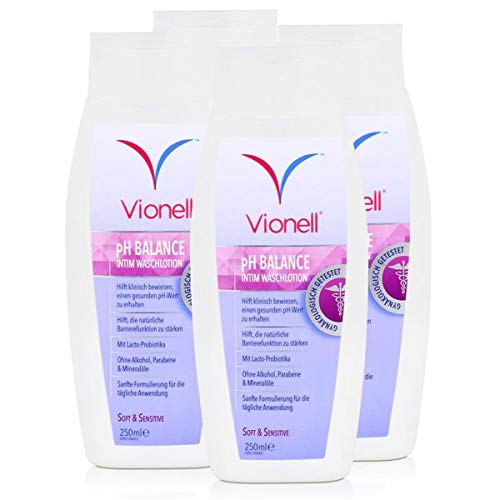 Vionell Intim Waschlotion pH Balance Soft & Sensitive 250ml (4er Pack)