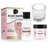 Acrylic Nail Kit,Acrylic Powder and Liquid,Polvo Acrílico y Líquido,Acrylic Nail Starter Kit,por...