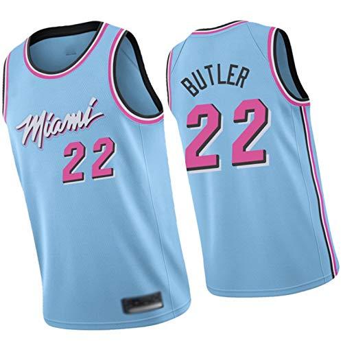 WXZB Baloncesto Jersey Heat 22# Butler, Hombres Camiseta Baloncesto Uniforme Lakers #3 Davis, Retro Cuello redondo Jeysey, Chalecos de hombre azul