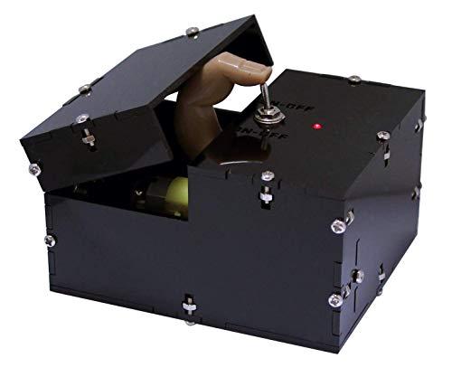 Arexx Arx-UM1 Useless Machine Gift Bausatz, Mit Finger, Schwarz, Kein