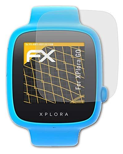 atFoliX Panzerfolie kompatibel mit XPlora GO Schutzfolie, entspiegelnde & stoßdämpfende FX Folie (3X)