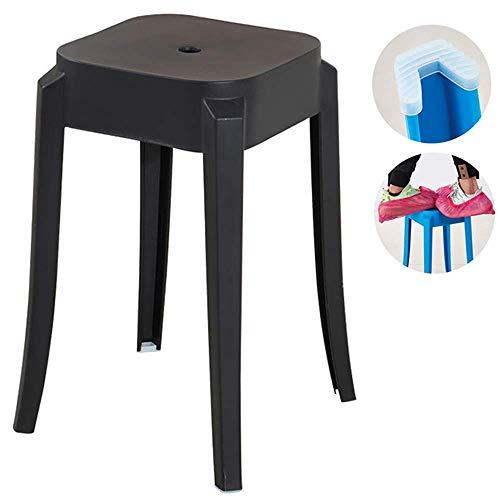 Bankkunststoff-Klapphocker kann verdickt und leicht zu lagern, rutschfeste Familiensitzmöbeldekoration, die für Wohnzimmer geeignet ist MISU