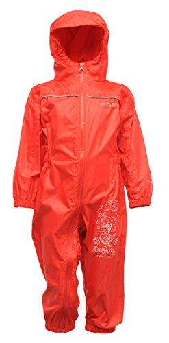 Regatta Puddle III - Salopette Enfant - bleu 2014 manteau - Rouge (Rouge Piment) - Taille 24-36