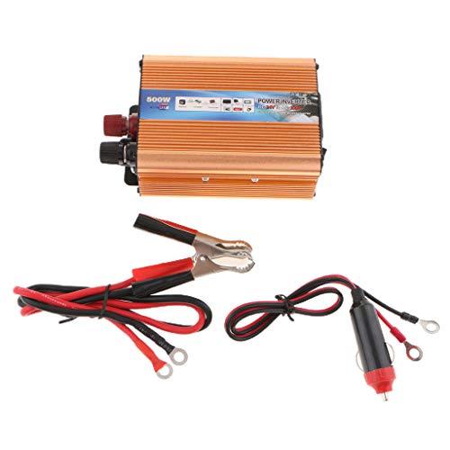 PETSOLA 500 Watt Solar Wechselrichter 24 V Zu 220 V Auto Wechselrichter - Gold