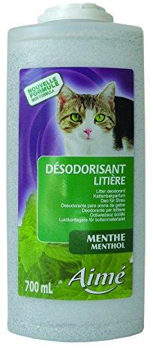 Aimé 833066 Desodorante para Arena para Gatos, Menta - 700ml - Pack de 2