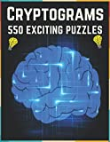 Cryptograms Puzzle Book For Adults, Puzzle...