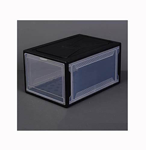 La Caja De Zapatos, Espesar Caja Plástico Transparente Almacenamiento, Organizador Entrada, Banco Almacenamiento Múltiples Funciones, Insecto De Control A Prueba De Polvo De La Humedad Y El Moho,Negro