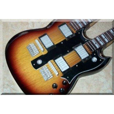 GIBSON SG Doubleneck Miniatur Gitarre Sunburst