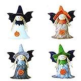 N\A 4 juguetes de peluche de Halloween Set lindo 3D calabaza bruja ángel muñeca para niños...