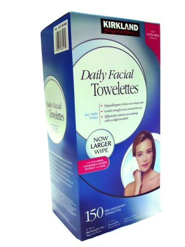 Kirkland Signature Daily Facial Cleansing Towellettes - 150 ct