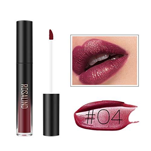 Matte Glanz Perlglanz Lippenstift mit 24h Halt ohne auszutrocknen, mit intensiver Farbabgabe,...