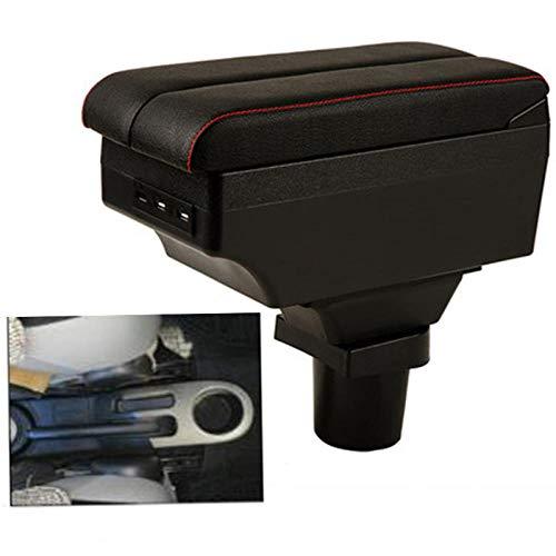 WANGLEISCC para Toyota ist, Caja de reposabrazos de Doble Capa con Interfaz USB