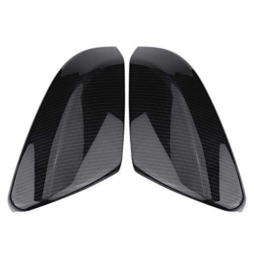 Aramox 2 La cubierta del espejo retrovisor de fibra de carbono trasero es compatible con el sedán Honda Civic 2016-2019