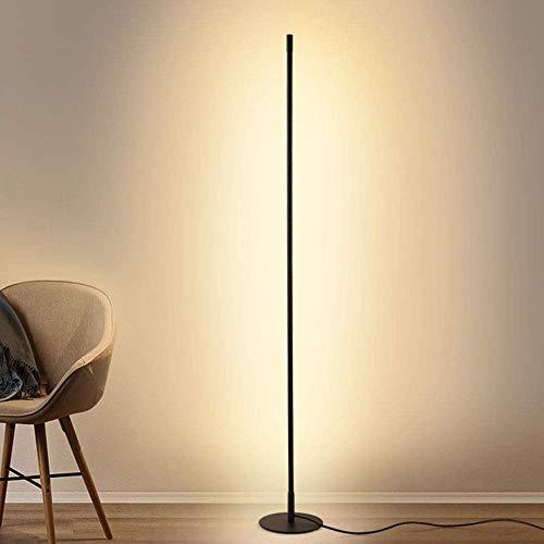 YUNDING Lámpara De Pie Moderna Luz LED Vertical Habitación Sala lámpara De Atmósfera De Personalidad 100V-240V Negro