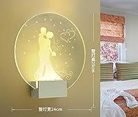 HONYGE ブラケットライト 玄関ポーチ 現代のロマンチックプレーン染め燭台屋内の壁を導いたアクリルの壁は、壁ランプリビングルームキッチンベッドサイド暖かい光をマウント おしゃれ ポーチライト ウォールライト (Color Temperature : Without switch, Lampshade Color : N)