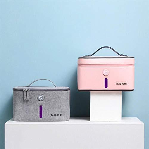 UV Sterilisator Desinfectie Doos USB Charge Persoonlijke Verzorging Ultraviolet Disinfector Kast Voor Ondergoed Make-up Speelgoed Negatief ion, roze