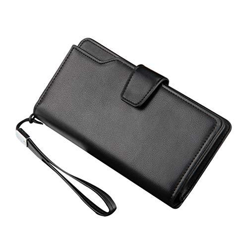 junkai Network technology Ltd junkai Neue Casual Herren Clutch Bag Business Brieftasche Handtasche Organizer Scheckheft Wallet Card Case Schwarz
