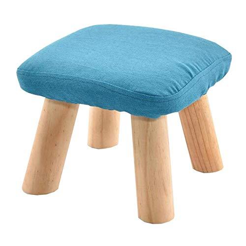 GPWDSN zitzak van hout, gevoerd, afneembaar, met linnen, 4 poten van beuken, kleur kaki