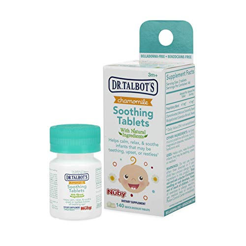 Nuby Chamomile Soothing Tablets, Quick Dissolve, 140 Count