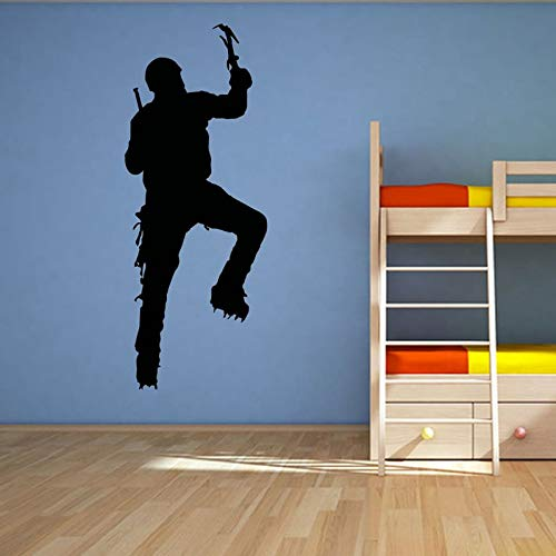 JXAA Kletteraufkleber Kletteraufkleber Extremsportplakat Vinylwandaufkleber stoßen dekorative Wandfarbe Farbauswahl Kletteraufkleber 23x58cm