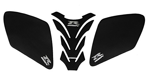 Decal Story 3D Carbon Fiber Look Emblem Gas Tank Cover Side Cover Sticker Decal Raise Up Polish Gloss for Suzuki Gsxr 1000 2007-2008