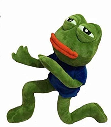 N-L Soft Toy 42cm Magic Expression Pepe The Frog Sad Frog Collection Plush Toys 3+ Kids Birthday