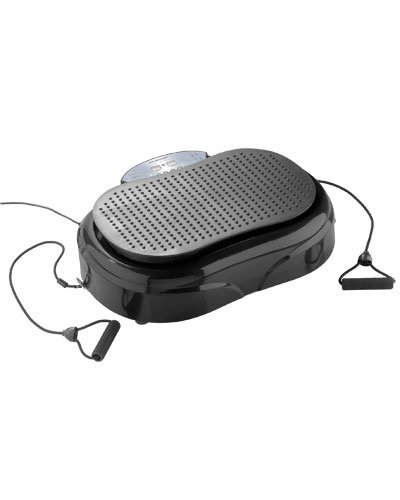 Newgen Medicals Fitness-Vibrationsplatte: 3in1-Vibrationsplatte bis 150 kg, 300 Watt, Expander, Fernbedienung (Kompakte Vibrationsplatte)