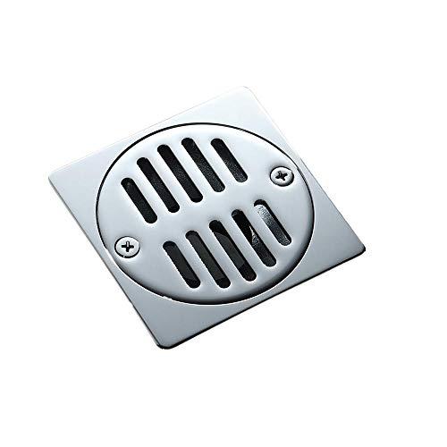 AAPOY Desagüe Ducha De 1 Uds Desagüe De Cobre para El Suelo De La Ducha Desagües para El Suelo del Inodoro De La Cocina Rejilla De Residuos Antiolor De Agua Desagüe Cuadrado De 9 Cm Hardware