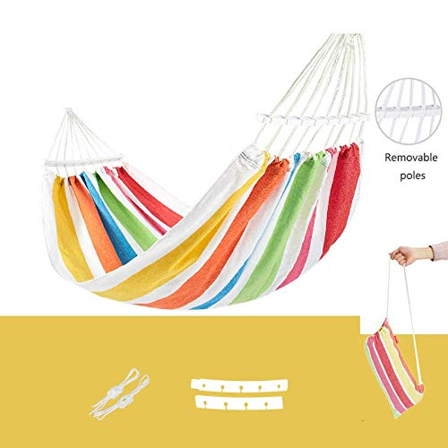Camping hangmat Hangmat met spreader bar Double/Single tuinschommel Sleeping bed Portable Outdoor Camping Garden hangstoel (Color : White, Size : 200 * 150cm)