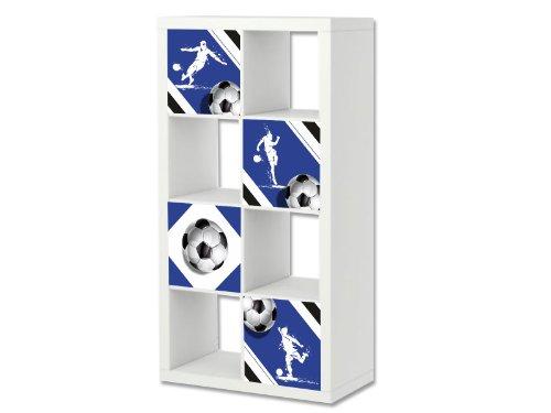 Stikkipix Fußball Möbelsticker/Aufkleber-Set passend für das Regal EXPEDIT/KALLAX von IKEA - FC19 - Möbel Nicht Inklusive