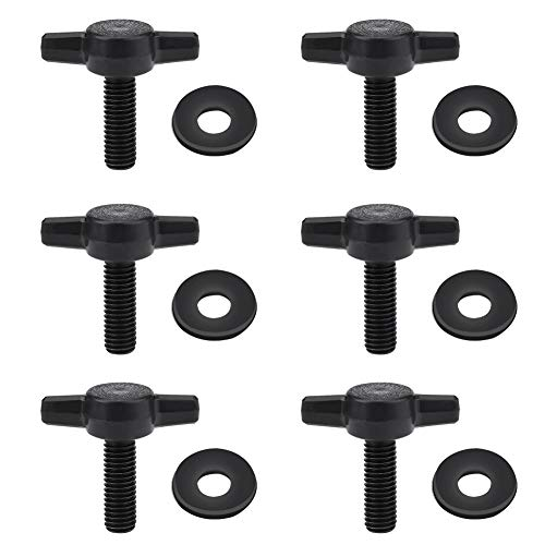 Sujetadores superiores duros universales Tornillos de pulgar Tuercas Pernos para Jeep Wrangler YJ TJ JK (6 piezas)