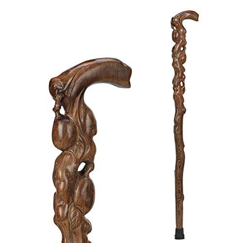 YCAXZSH Traditioneller Stil Starke Holz Wanderstöcke,Natürliche Holz Geschnitzt Nicht-Slip Canes Für Männer Und Frauen