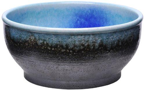 カミハタ 水槽 信楽焼めだか鉢 ブラウン/ブルー